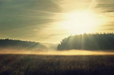 sunrise and fog by StargazerLZ