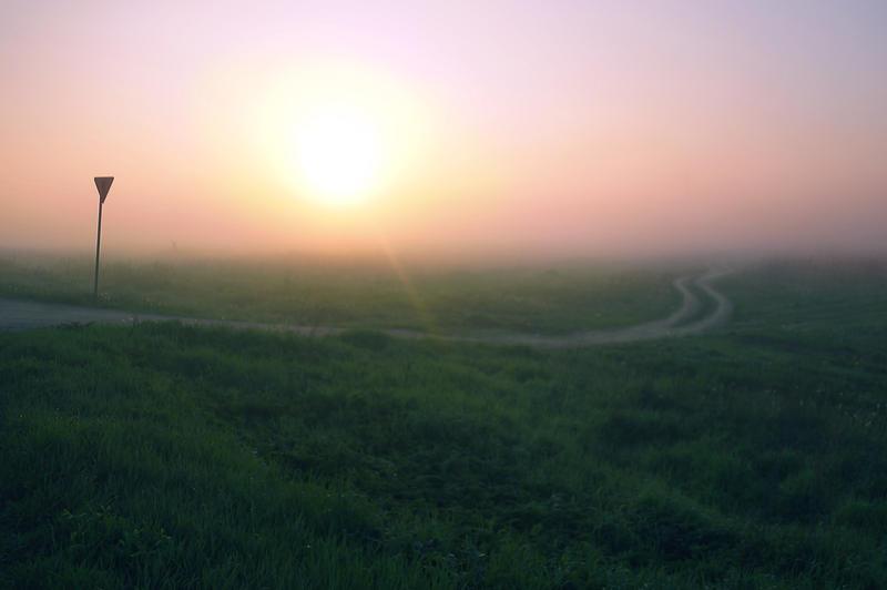 Untitled foggy road by StargazerLZ