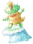 Collab: Ludicolo Used Surf! by PitchBlackEspresso