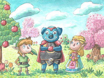 Zelda x Animal Crossing Crossover