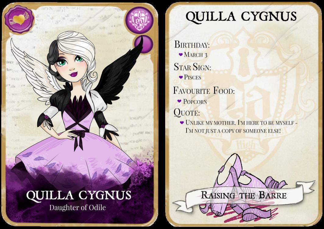 ever after high oc quilla cygnus card by artbyaimdog on