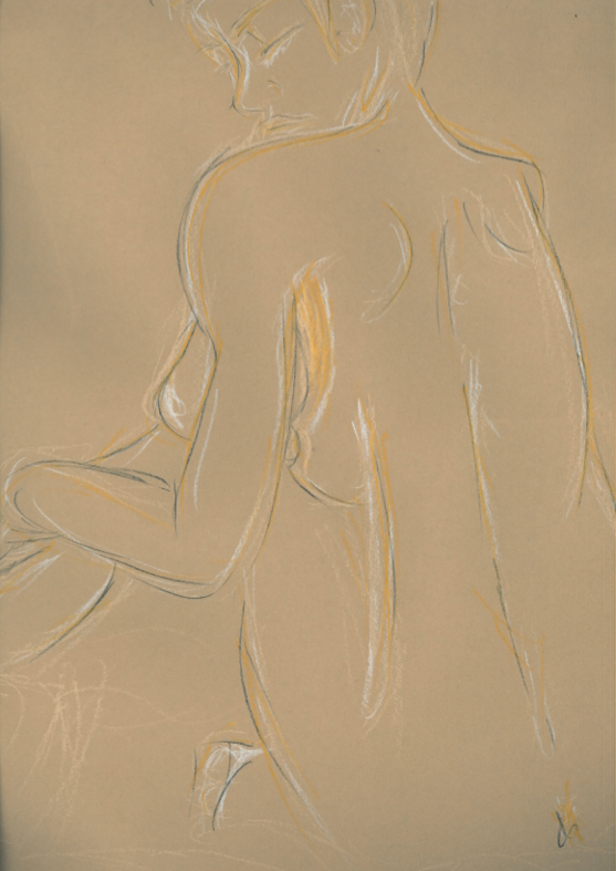 Life Drawing - Scanned by Etrenelle