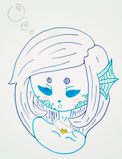 Pandah' Sleepy Little Mermaid by Etrenelle
