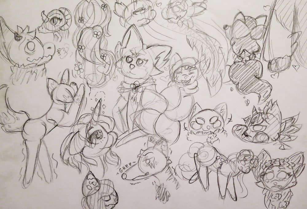 Sketch Dump #1 by Etrenelle