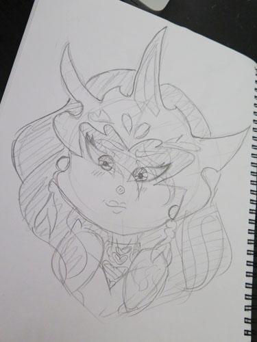 COMM :: Scarlett Sketch by Etrenelle