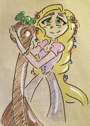 Fanart :: Rapunzel by Etrenelle