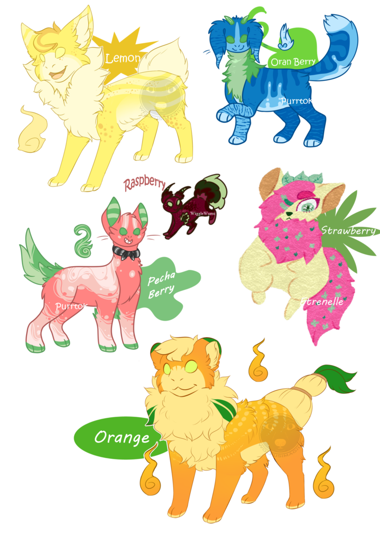 OPEN :: Berry Themed Sreaks Adopt Collab by Etrenelle