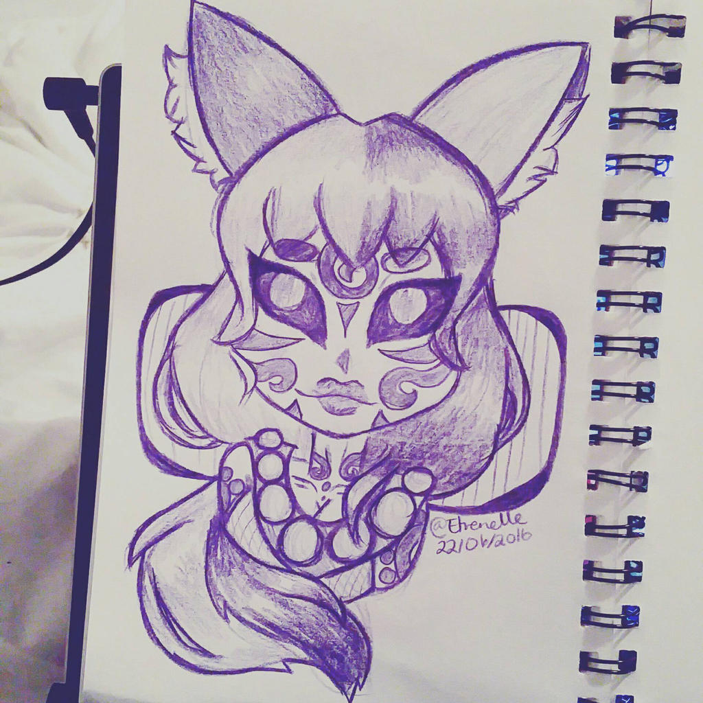 Kitsune Sketchy by Etrenelle