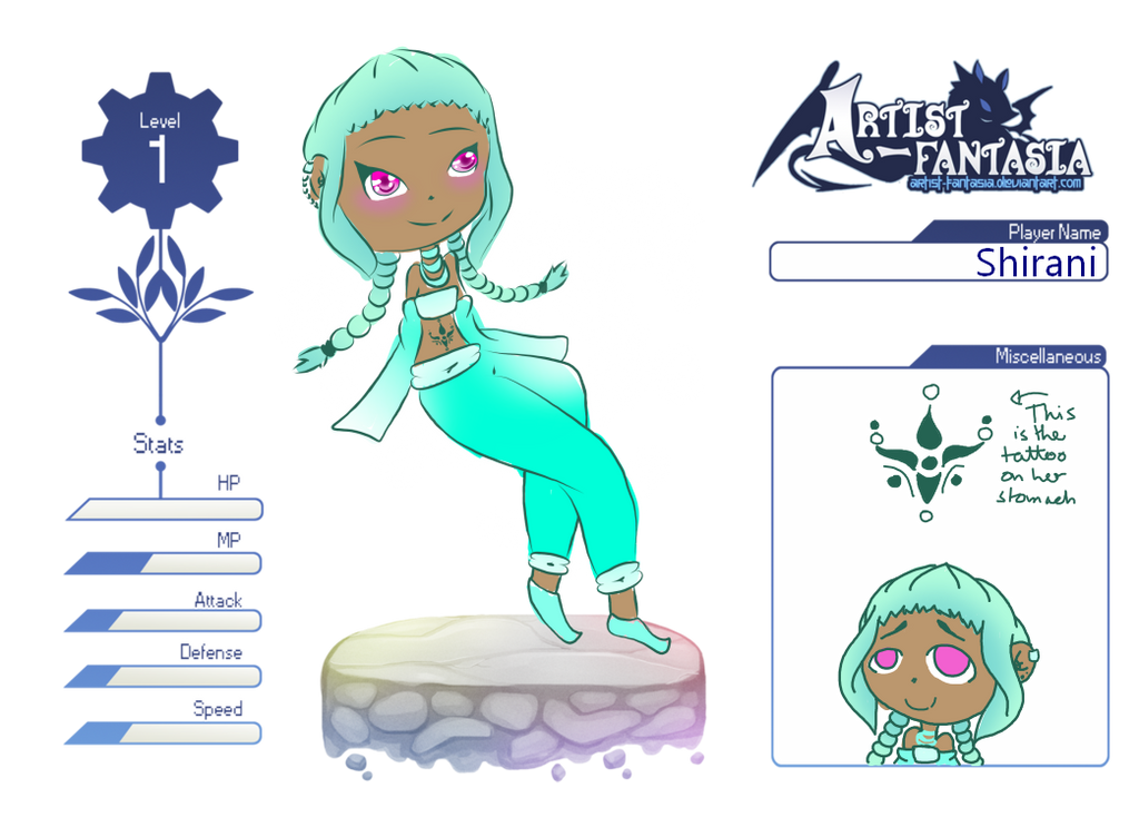Shirani - ARTIST-FANTASIA APPLICATION by Etrenelle