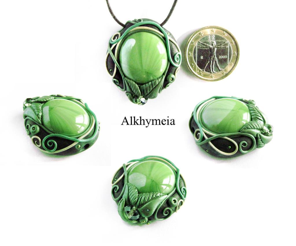 Dew Drop in Green 3 by Alkhymeia