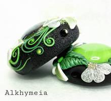 Goccia in Verde, Closeup by Alkhymeia