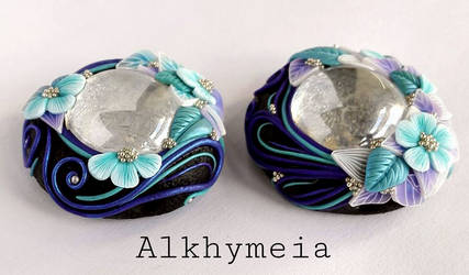 Gocce in Azzurro e Viola