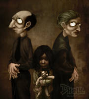 Broken D Family by dholl