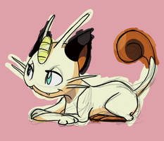Meowth by skeletall