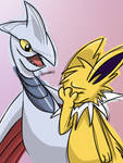 Jolteon and Skarmory