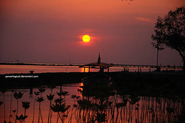 Sunset from Panjang Island - 2