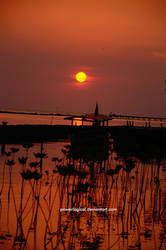 Sunset from Panjang Island