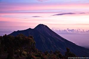 Mount Merapi from Mount. Merbabu
