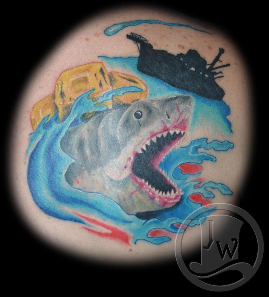Shark jaw tattoo - photo#20