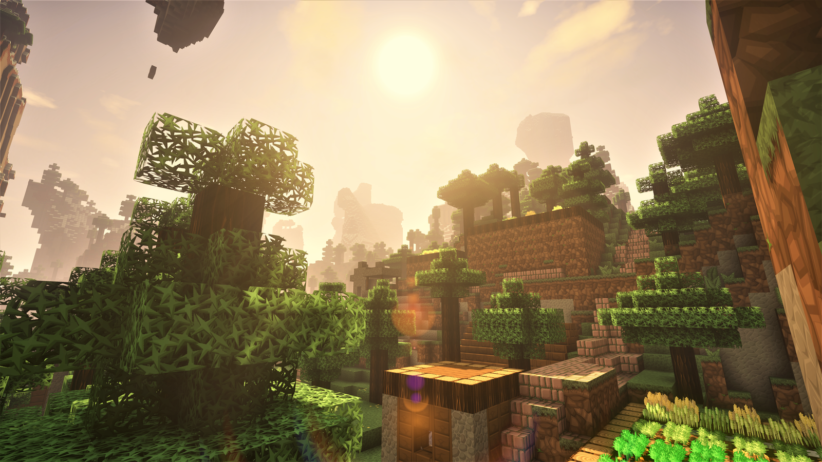 Hd Minecraft Village Wallpaper