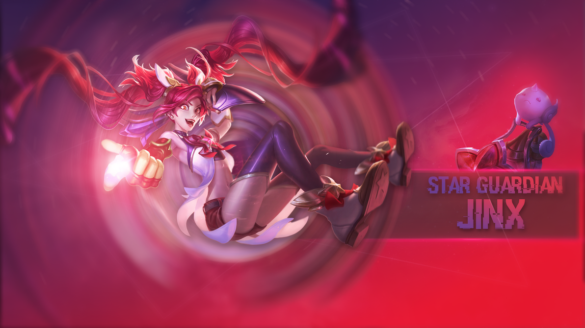 star guardian jinx - league of legends - wallpapersomebenny on