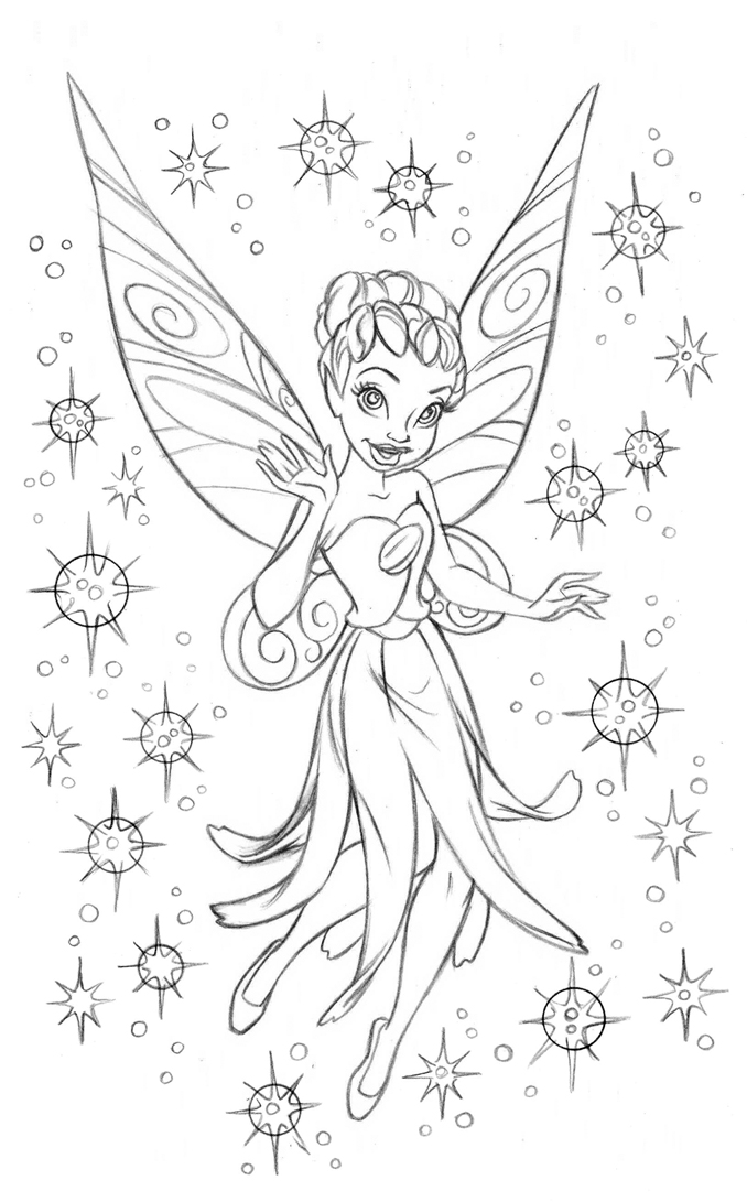 Fairies And Pixies Drawings Fairies coloring book '