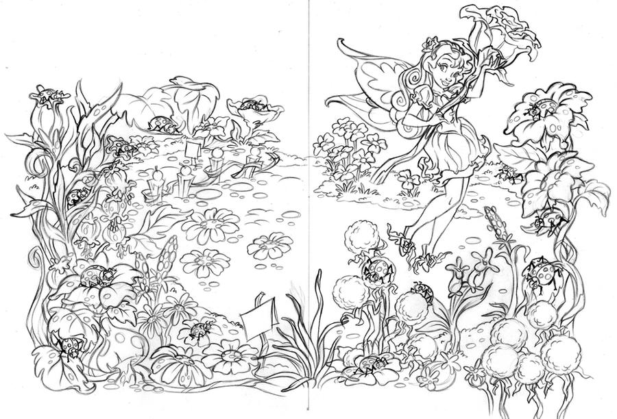 Fairies Coloring Book Rosetta1 Clean Up Pencil By Dagracey On DeviantArt