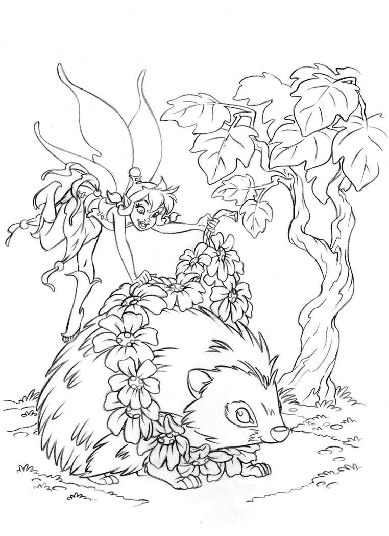Fairies Coloring Book Beck2 Clean Up Pencil By