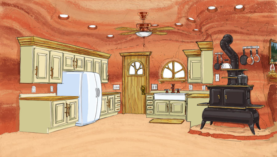 Bear family home kitchen area furnishings by dagracey on for Paintings for kitchen area