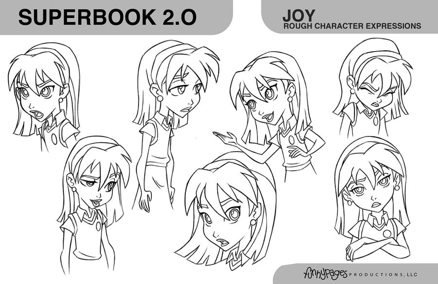 CleanUp Modelsheet SuperBook2 Joy expressions by