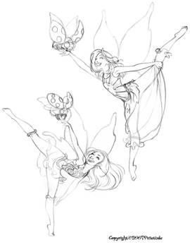 Sketchbook(Dancing Pixies 1)
