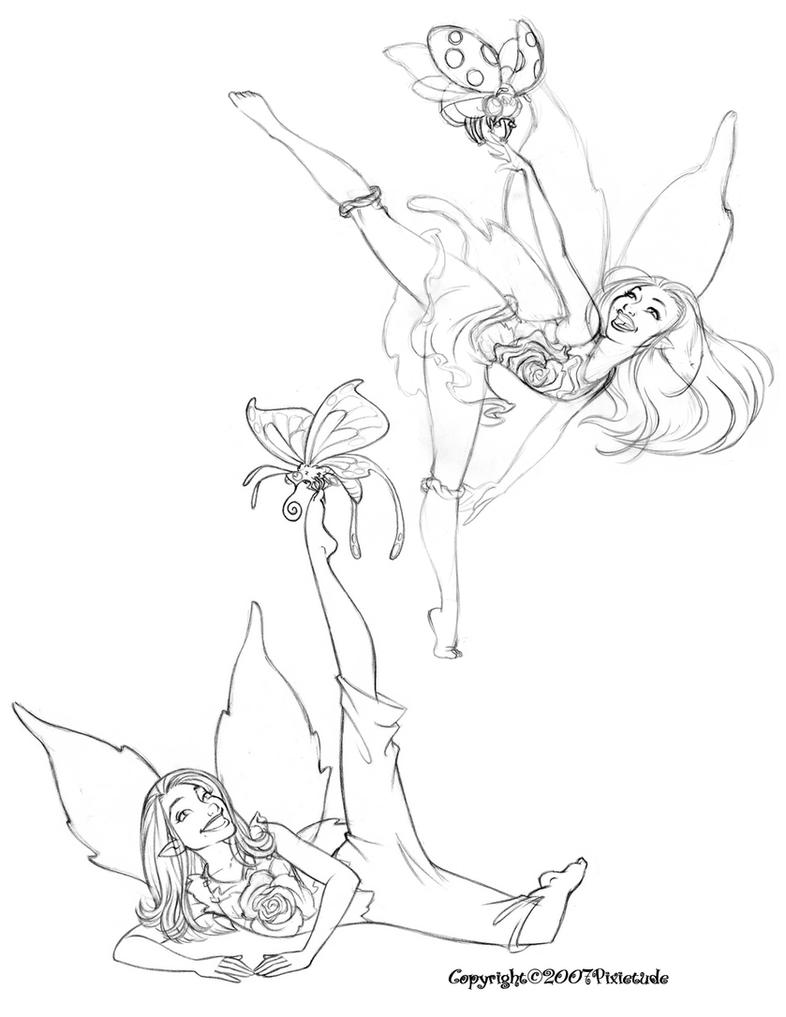 fairies and pixies coloring pages - photo#43