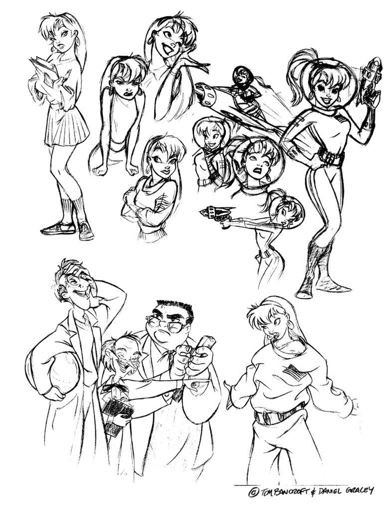 Sketchbook1(Early 'Betty' designs) by dagracey
