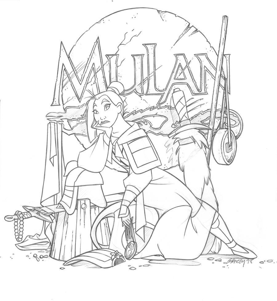 Sketchbook(Mulan fini) by dagracey