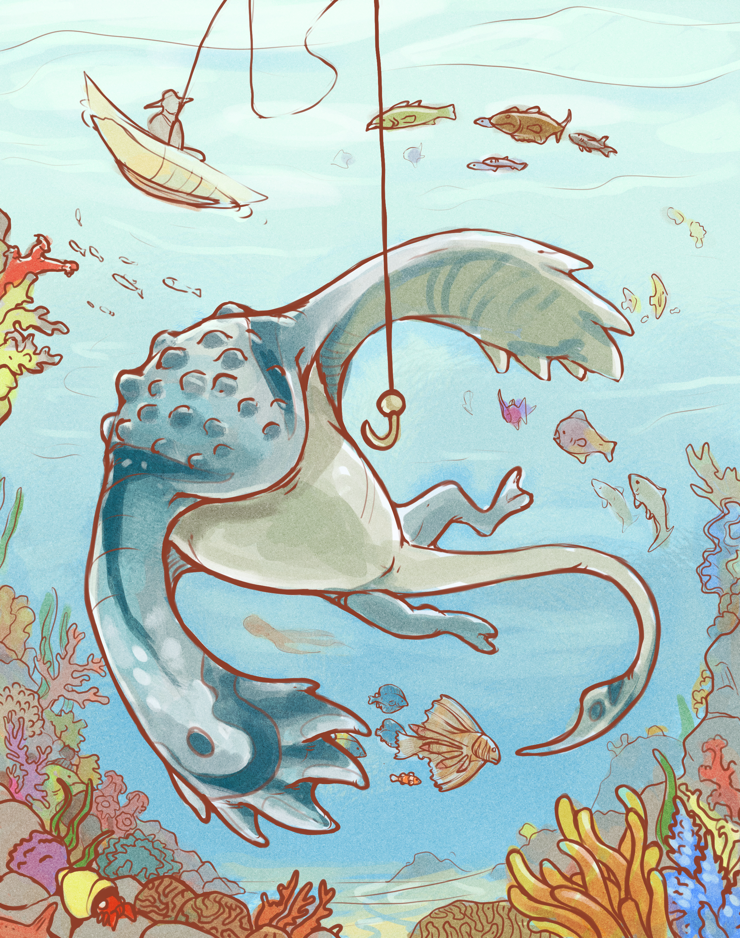 Playful Sealife by KGMomo