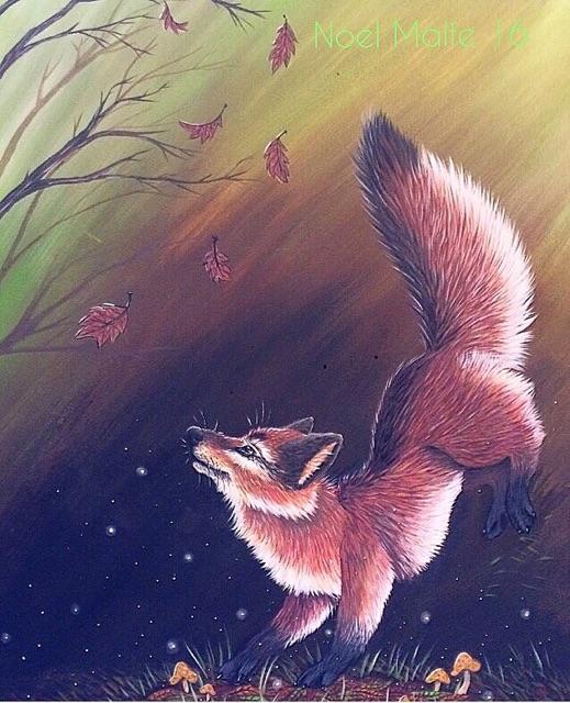 Fox in the Woods by noelscreations