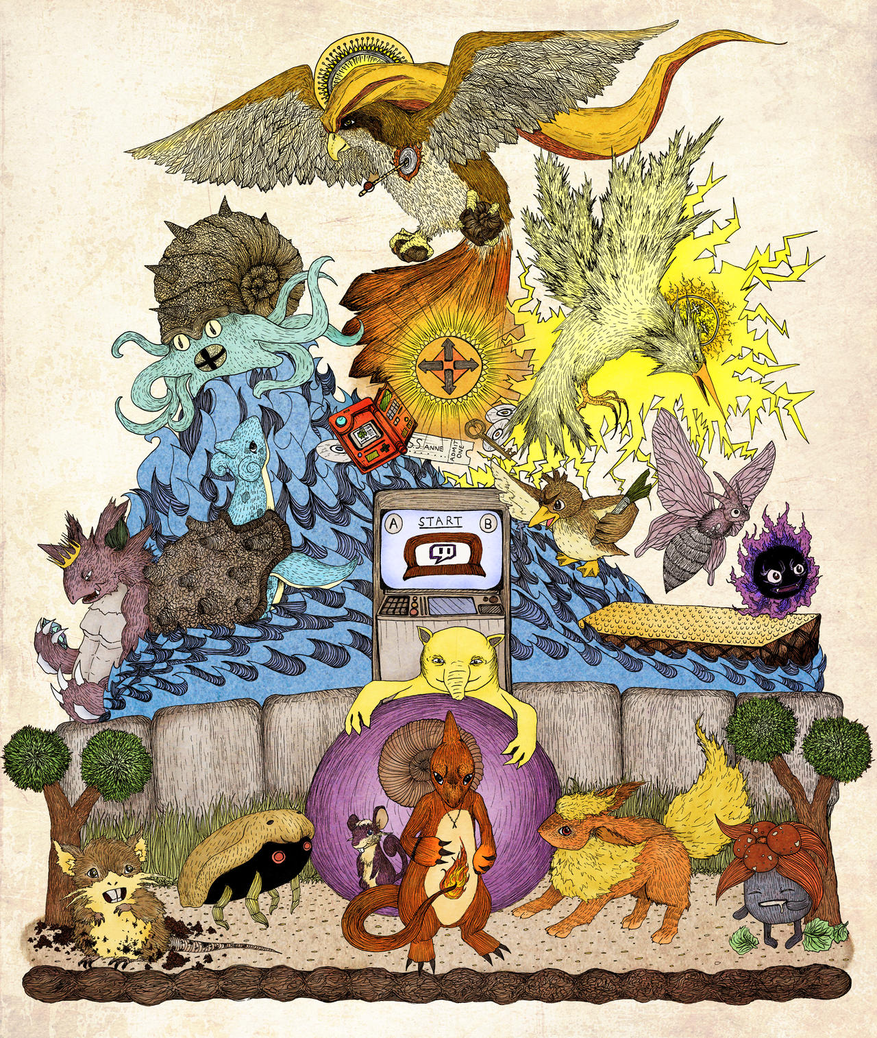 twitch plays pokemon red (color)