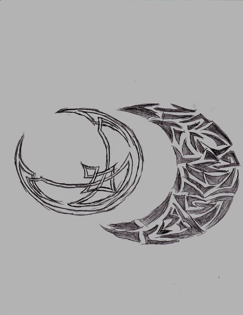 Celtic and tribal moon designs by KleidAusRosen on DeviantArt