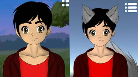 Me as an Anime and Wolf