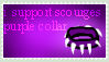 i support scourges PURPLE collar stamp! by SnowCatis12