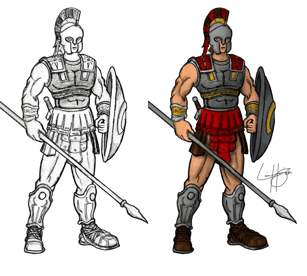 Greco-Roman Warrior by Gatewave on DeviantArt