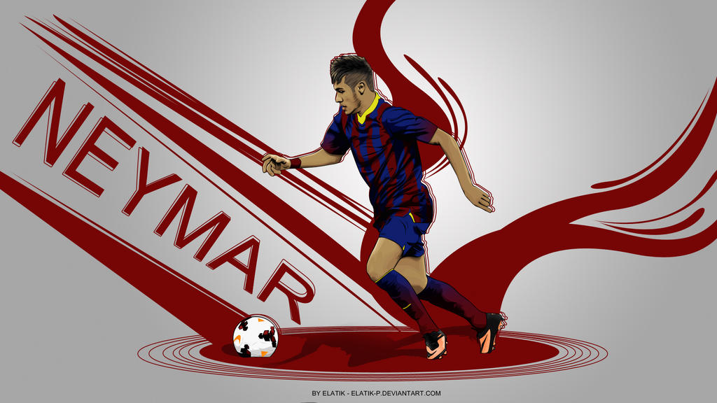 Neymar da silva wallpaper by elatik p on deviantart