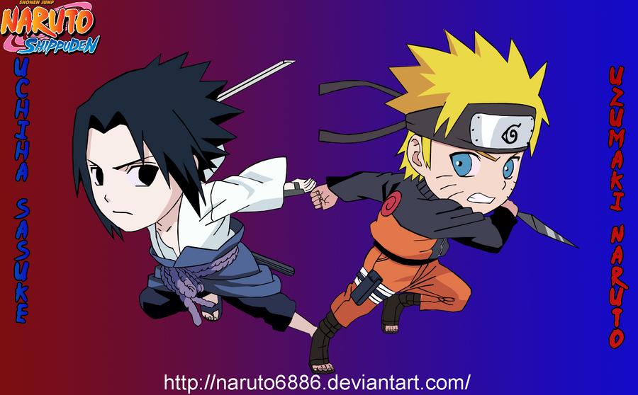 Naruto and Sasuke by Naruto6886