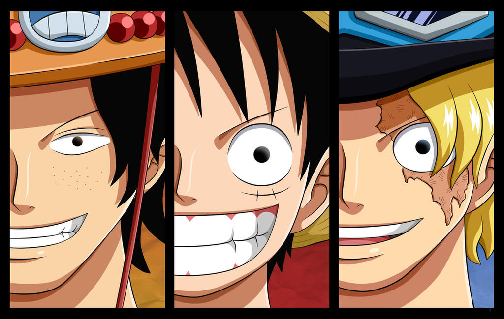 Wallpaper HD Luffy Ace Sabo Brothers