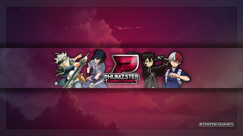 phumzster custom youtube banner by zewzewgraphics