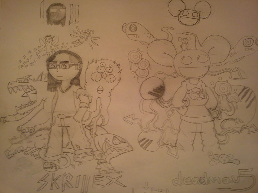 deadmau5 and Skrillex penicls by DinomanInc