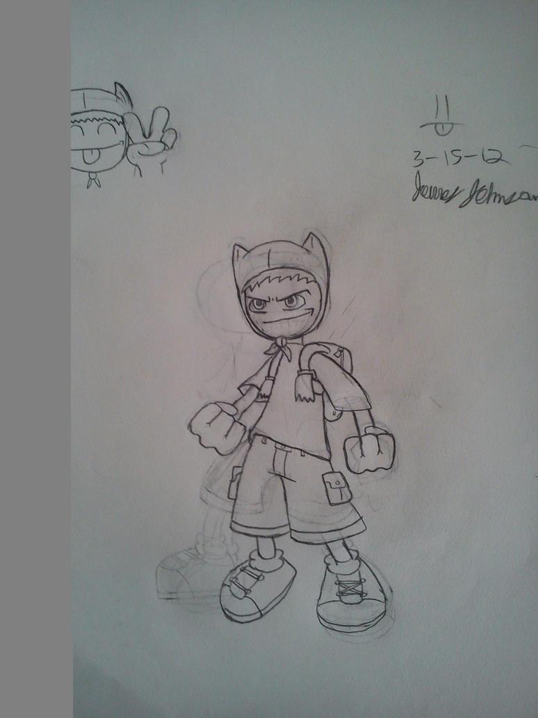 Anime Finn 1st Draft by DinomanInc