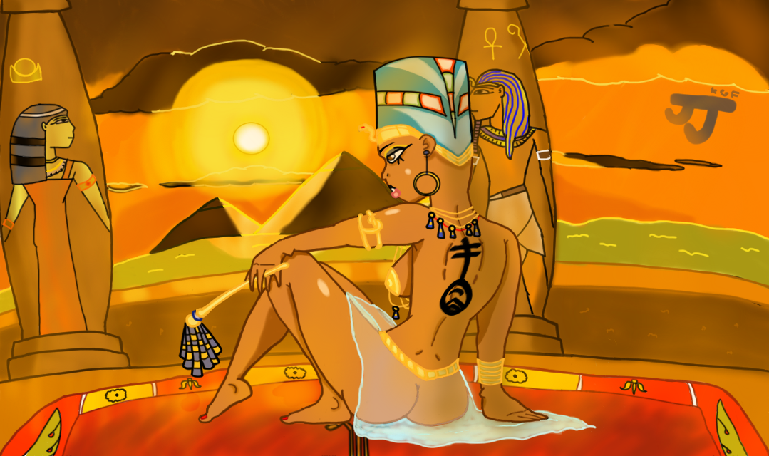 Egyptian Queen by DinomanInc