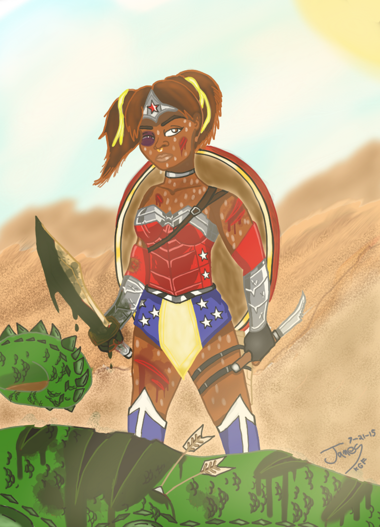 Allyssa the Wonder Woman by DinomanInc