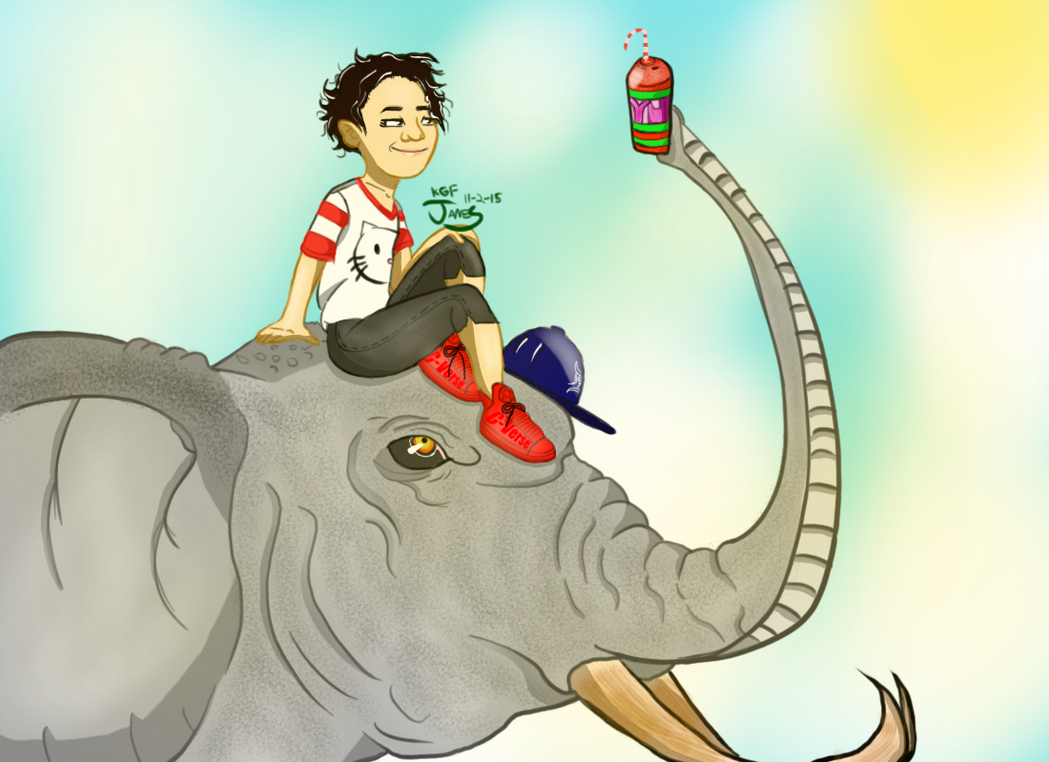 A Chicka and her Elephant by DinomanInc
